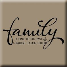 Family Reunion Themes | LINK TO OUR PAST WALL DECAL More