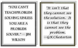 You Can't Teach Problem Solving Unless You Are A Problem Solver