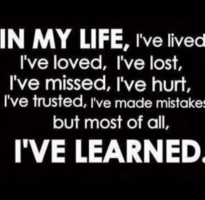 ve learned!