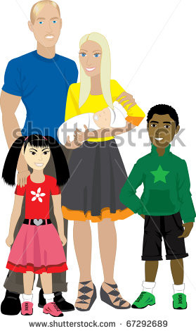 Adoptive Families Clipart Foster care or adoption.