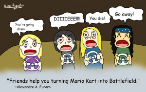 Quote - Friends and Mario Kart by Alecomics
