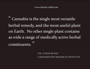 Cannabis is the single most versatile herbal remedy and the most