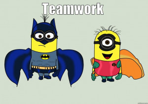 minion Batman and Robin - TEAMWORK Misc