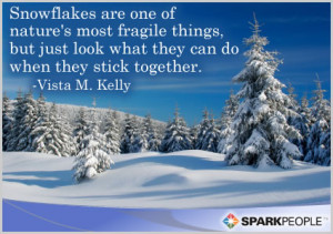 Motivational Quote - Snowflakes are one of nature's most fragile ...
