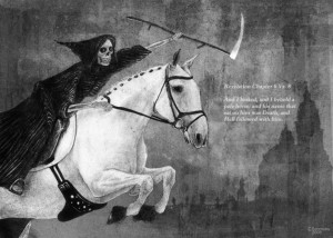 ... Death and his horse, Binky