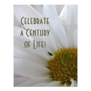 100th Birthday Celebration-Daisy Personalized Invite