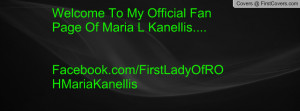 Welcome To My Official Fan Page Of Maria L Kanellis....Facebook.com ...