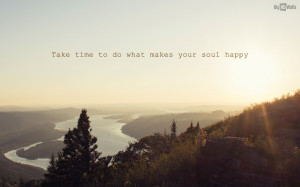Beautiful landscape with a quote