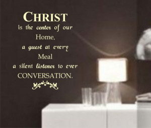 Christ Wall Quote Decal Sticker Christian Jesus Religion Art Graphic