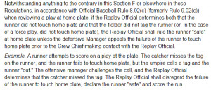 looked it up on MLB's replay rules website (section V, subsection ...