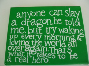 anyone can slay a dragon art