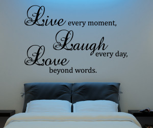 Live Laugh Love Wall Decal Vinyl Sticker Quote Art Living Room Dining ...