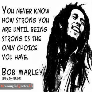 it will be cool to, and it's cooler to be guided by Bob Marley quotes ...