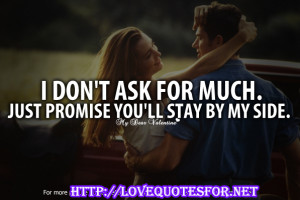 Promise Quotes For Her He bents down and kiss her