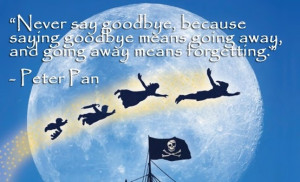 Never Say Goodbye Peter Pan