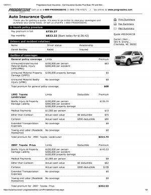 Online Quotes For Car Insurance >> Example Car Insurance Quotes Progressive. QuotesGram