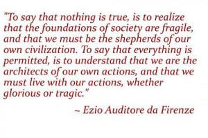 The Assassin's Ezio's Quote