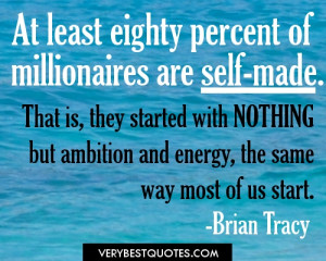 Millionaires picture quotes-Brian Tracy Quotes