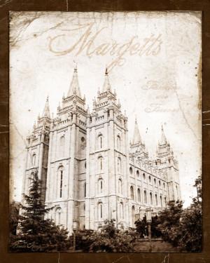 16 x 20 Antiqued LDS Temple Print