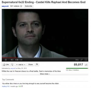 Castiel Castiel as God