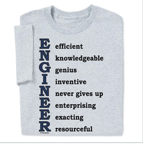 ... Site Map Engineer Gifts for All Engineer Qualities T-shirt
