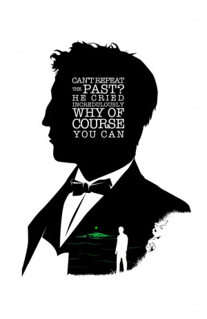 Jay Gatsby - Quote Silhouette Art Print