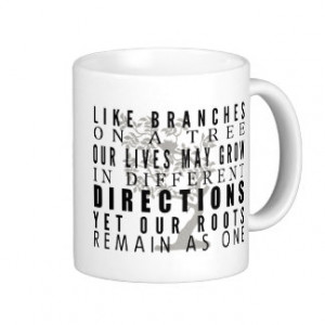 Branches on a Tree Family Reunion Quote Mugs