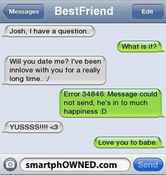 - BestFriendJosh, I have a question..What is it?Will you date me ...