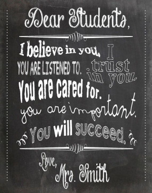 ... Teacher Chalkboard Classroom Poster - 11x14 inches - Black / Gray