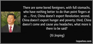More Xi Jinping Quotes