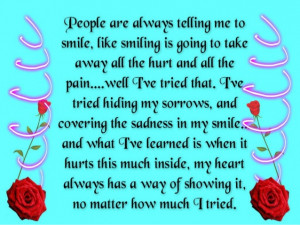 Quotes About Smiles Hiding Pain Quotes About Hiding Pain
