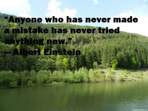 Albert Einstein Quote about mistakes