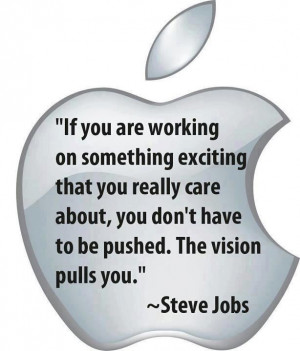 Quote on the power of vision by Steve Jobs