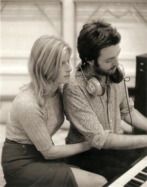 Linda and Paul in the studio.