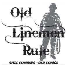 Old Linemen Rule Poster