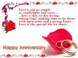 Love Anniversary Wishes Greeting Card