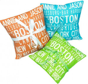destination wedding ring pillows | orange lime green, and turquoise ...