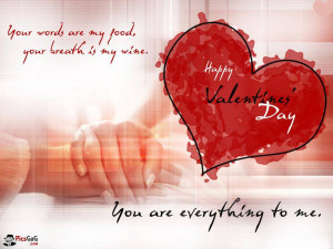 Valentine wallpaper with love quotes to say