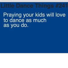 little dance things More