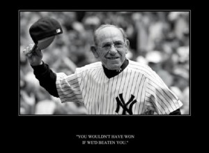 yogi berra quotes lawrence peter berra or popularly known as yogi ...