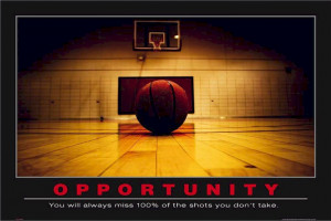 ... Met Your Mother - Barney Motivational Opportunity Basketball Poster