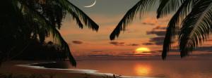 Romantic Sunset Beach Facebook Cover