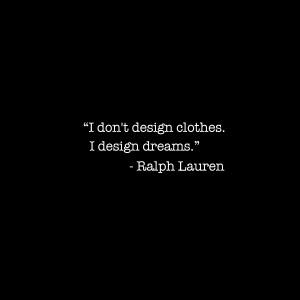 Don't Design Clothes…