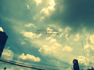 always remember, clouds, life, live, quote, sky, strong, truth, wrong