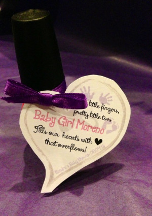Cute tags for nail polish party favor, baby shower!: Shower Ideas ...