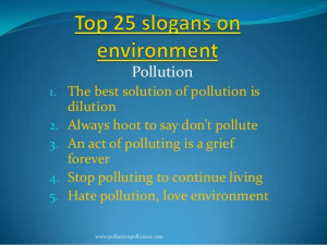 Pollution1. The best solution of pollution is2.3.4.5.dilutionAlways ...