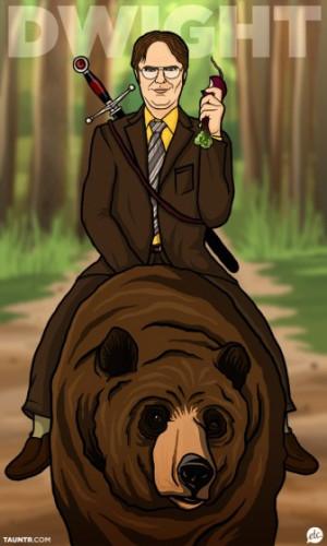 dwight-schrute-riding-a-bear-2689-1317220495-23