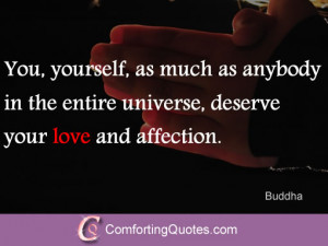 Buddha Quote about Loving Yourself