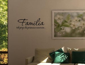 Spanish Vinyl wall quotes Espanol Familia todo porque dos personas se ...