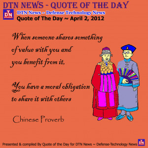 DTN News - QUOTE OF THE DAY: Quote of The Day ~ April 2, 2012